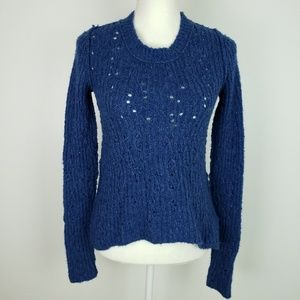 Free People Cable Knit Wool Sweater